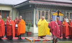 His the Holiness Trulku Jigme Choeda in Samtse for Moelam Chhenmo, 2016
